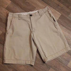 Aeropostale men's flat front khaki shorts